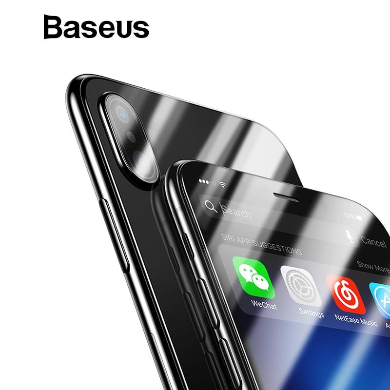Baseus vidrio delantero + vidrio templado trasero para el iPhone Xs Max XR 2018 vidrio Protector de pantalla para iPhone xs Max