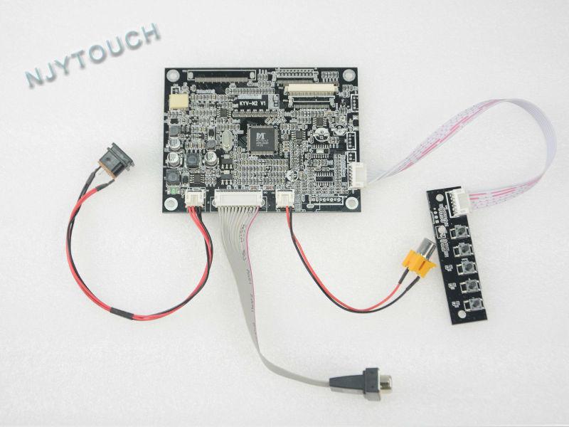 VGA AV TTL 50 pins LCD Controller Board KYV-N2 V1 for 5 AT050TN22 V1 50Pin 640x480 Free Shipping With Tracking vga av lcd controller board kyv n2 v1 kit 8inch 800x600 lcd panel ej080na 05b