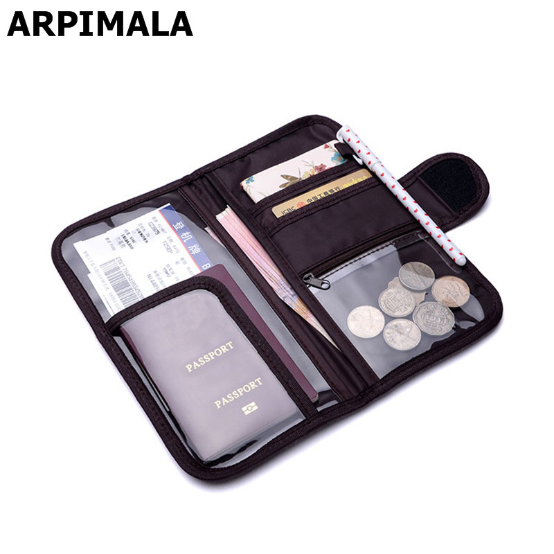ARPIMALA 2018 Brand Passport Cases Travel Wallet Big Organizer Document Bags Luxury Coin Money Purses Credit Card Holder No Logo