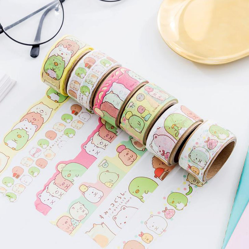 1 Pcs Cartoon 20mm*4m Sumikko Gurashi Paper Masking Tapes Album Scrapbooking Adhesive Washi Tape Sticker Label Stationery Gifts