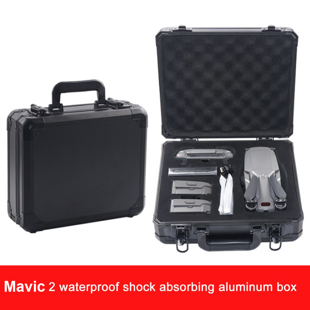 Aluminum Box Mavic 2 Pro Mavic 2 Zoom Bag Box High Capacity Storage Case for DJI Mavic 2 Pro Mavic 2 Zoom 4K Drone Accessories dji mavic pro 4k квадрокоптер бпла черный