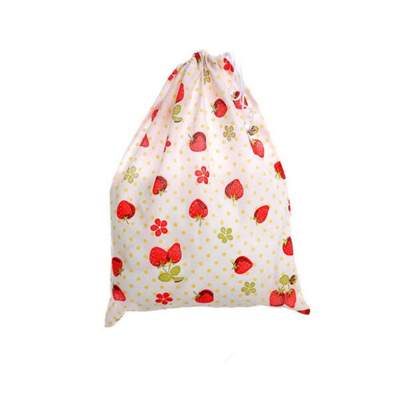 Portable Travel Drawstring Bag Simple Non Woven Dust Bag Thick Fashion Printed Shoe Storage Bag Unisex