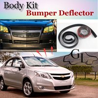 Bumper Lip Lips For Chevrolet Sail 2010~2015 / Car Lip Shop Spoiler For Car Tuning / TOPGEAR Recommend Body Kit + Strip