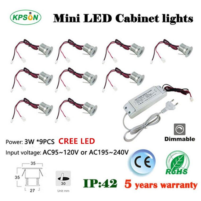 ФОТО 2set  led 3w spot light 25D/60D CE ROHS driver Cree LED 3 years warranty  for elevator room 30 mm cutting