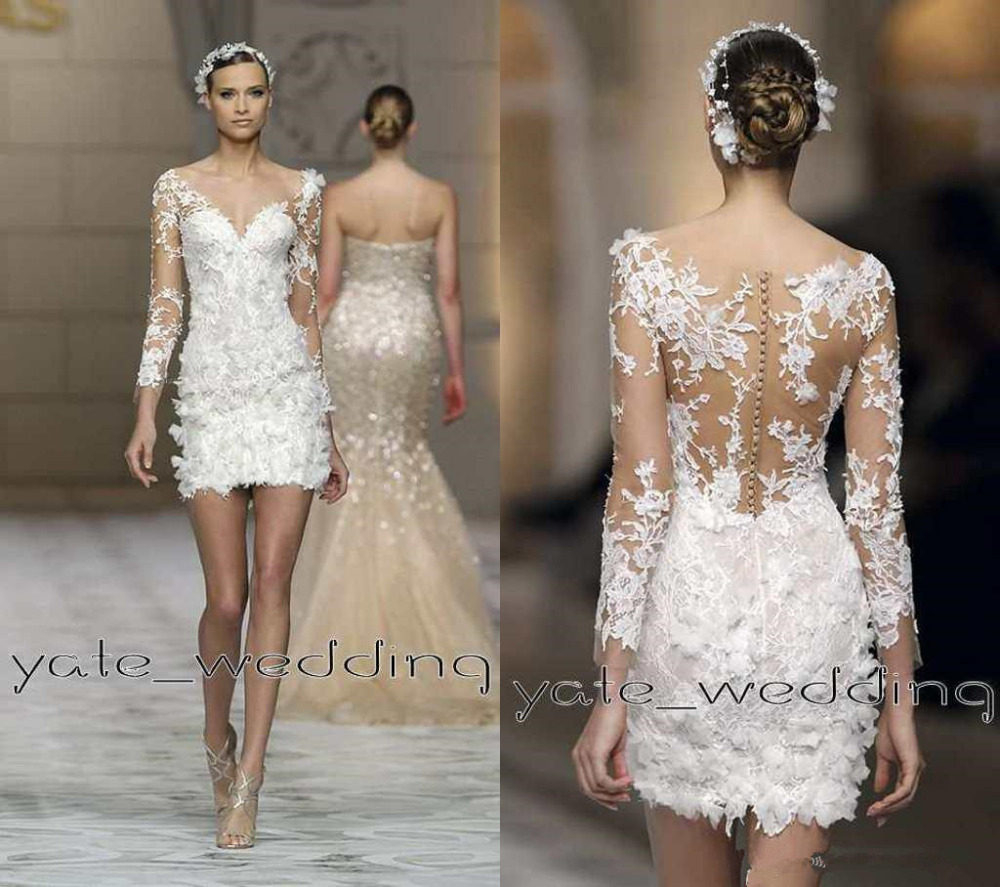 Popular Sexy Illusion Wedding Dress-Buy Cheap Sexy Illusion ...