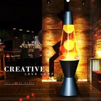 2017 New Arrival Metal Base Wax Lamp Volcanic Lava Melt Night Light Creative Decoration Light Jellyfish