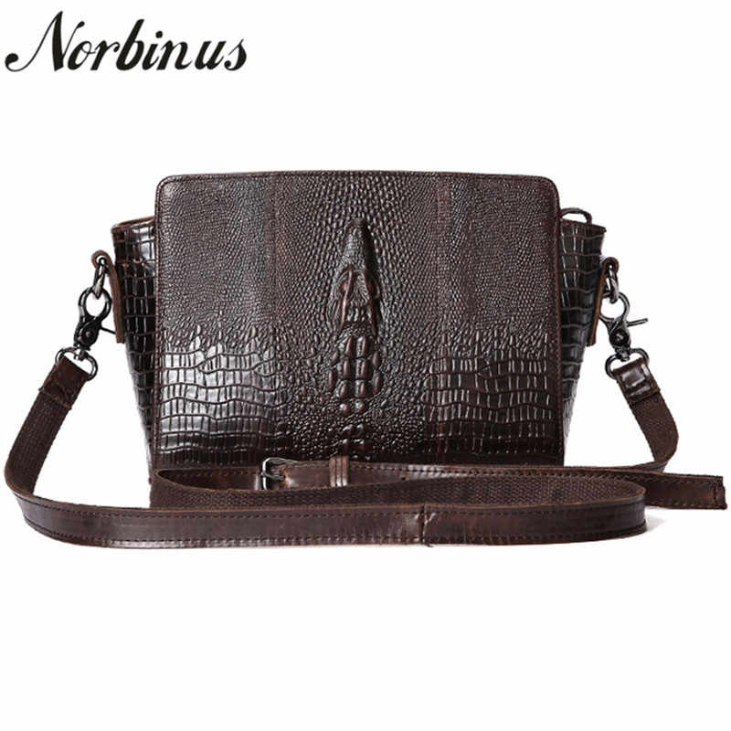 cd66961fc651 Norbinus женская сумка на плечо Женская Натуральная кожа Сумка через плечо  из натуральной кожи крокодила Дизайнерские