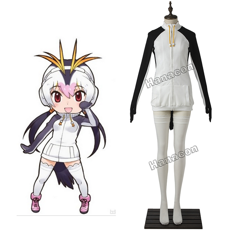 2017 New Anime Kemono Friends Cosplay Costume Royal Penguin Costume Coat For Lovely Girl Outfit Halloween Cosplay Custom-Made