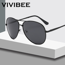 VIVIBEE Classical Men Aviation Polarized Metal Frame Sunglasses Black Women Styl
