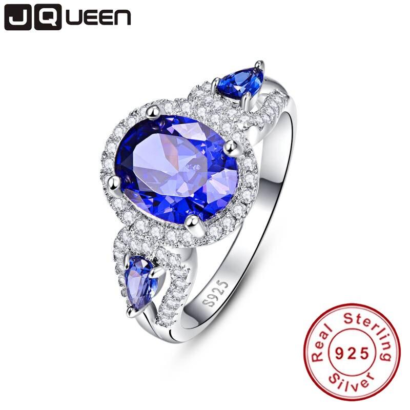 Hochzeit Marke Tanzanite Ring 925 Sterling Silber Modeschmuck neue 2016 Einzigartiges Design Für Frauen luxus marke Mit Box