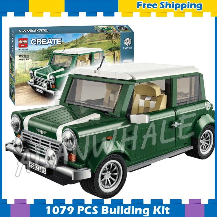 1079pcs Creator Expert MINI Cooper Mk VII Mobile Cars 10568 3D Model Building Blocks Assemble Gifts sets Compatible with Lego
