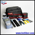 8 In 1 Fiber Optic FTTH Tool Kit with FC-6S Fiber Cleaver and Optical Power Meter 5km Visual Fault Locator Wire stripper