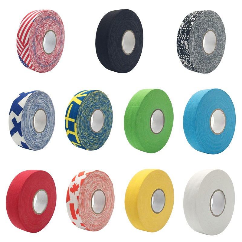 2.5cm X 25m Hockey Tape Sport Safety Football Volleyball Basketball Knee Pads Anti-slip Hockey Stick Tape Elbow Golf Tape