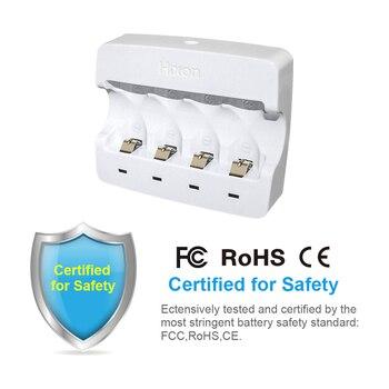 Caricatore con adattatore protetto per caricare RCR123A Batteria ricaricabile per Arlo e Reolink