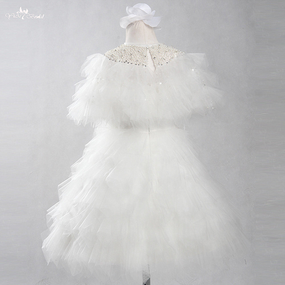 FG79 Real Pictures Yiaibridal Luxury   Flower     Girl     Dresses   Elegant Crystal Beading Pageant For Comunion