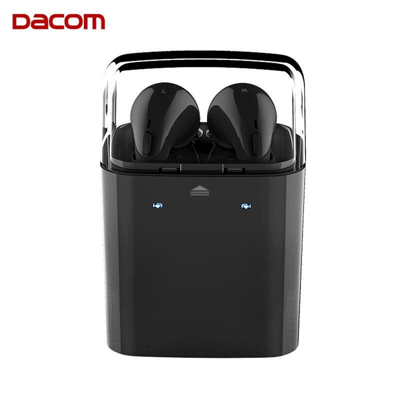 Dacom GF7TWS Black Bluetooth Earphones Tws True Wiress Sport Mono Earpieces or Stereo Blue tooth Headset