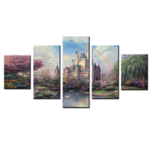 5 Panels Movie cartoon castle Canvas Print Painting Modern Wall Art for Picture Home Decor Artwork