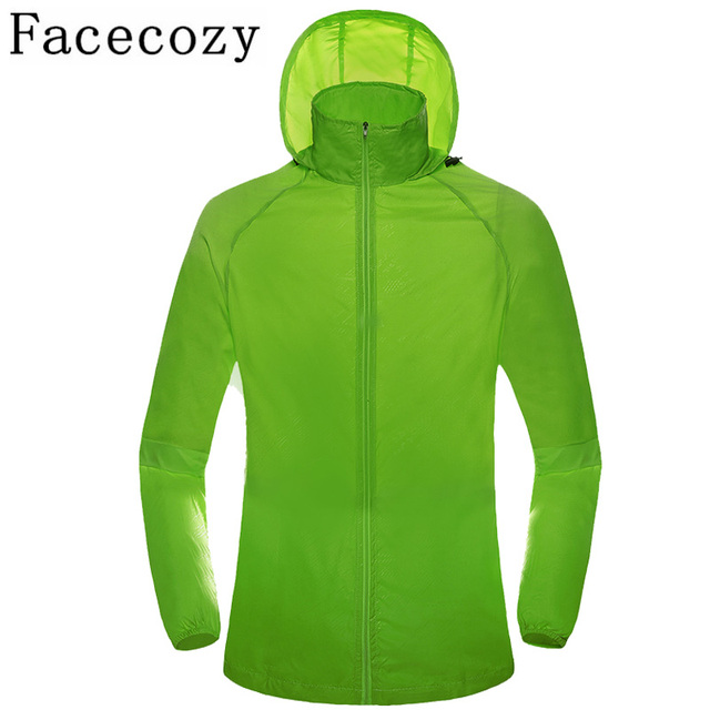 Facecozy 2019 Outdoor Fishing Clothes UV Resistant Waterproof Hiking Camping Jackets Breathable Quick Dry Running Shirt Coat