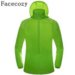 Facecozy 2019 ao ar livre roupas de pesca resistente uv à prova duv água caminhadas jaquetas acampamento respirável secagem rápida correndo camisa casaco