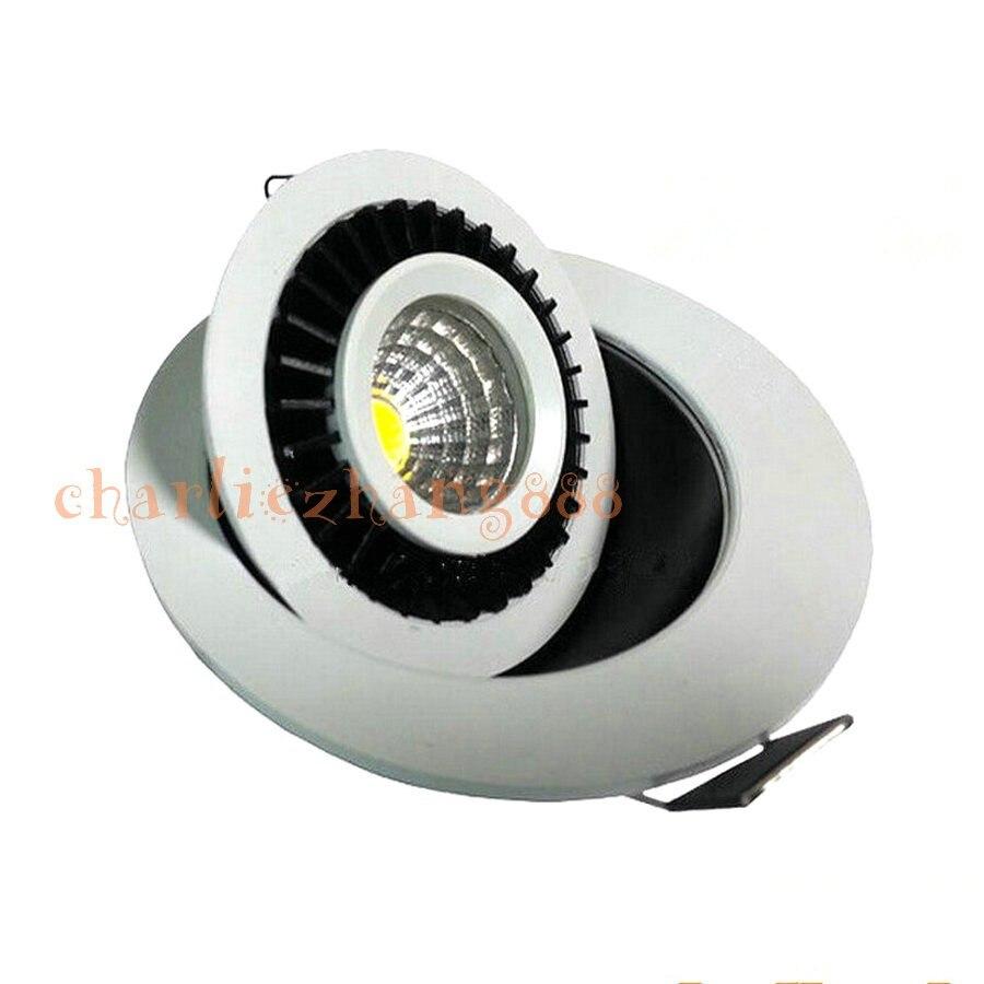 Вращаться на 360 градусов 5 Вт 9 Вт 12 Вт 15 Вт удара круглый поворотный карданного светодиодные светильники встраиваемый потолочный светильник...