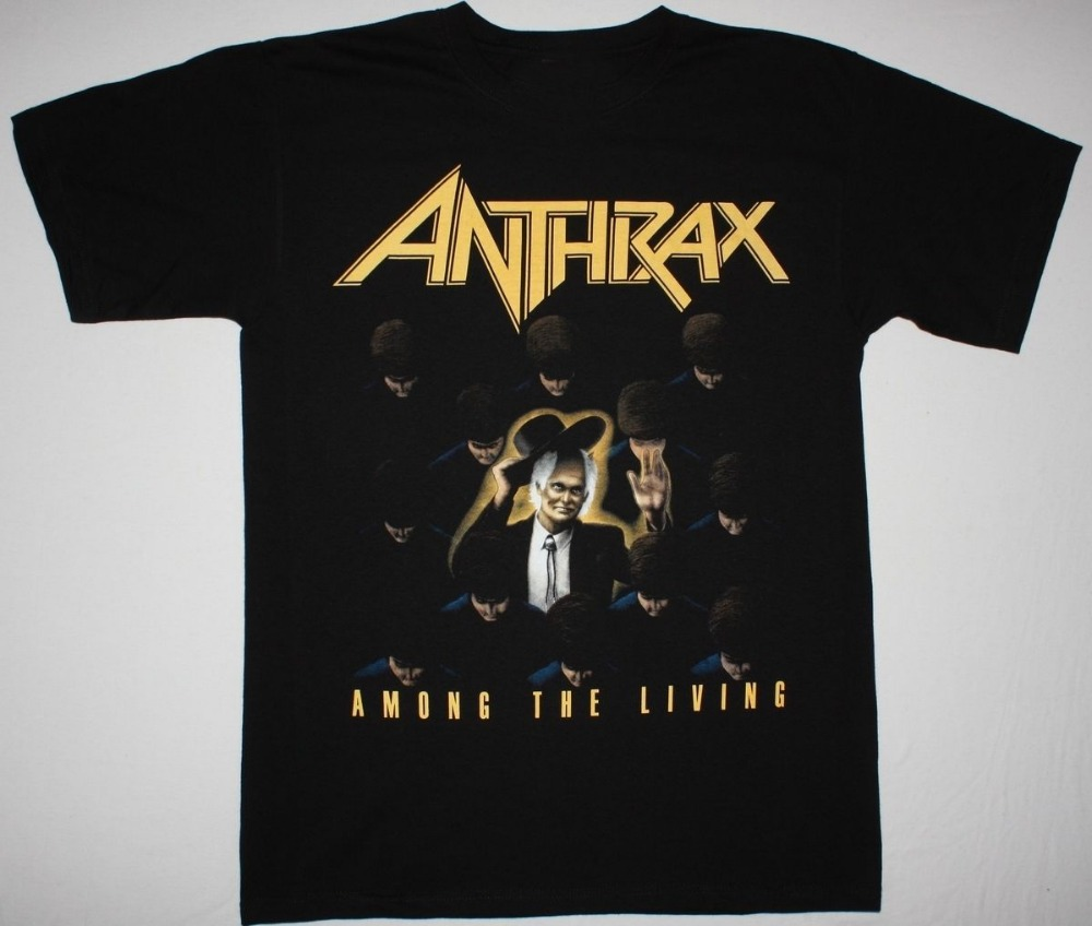 2018 Crossfit T Shirts Anthrax Among The Living T Shirt New Arrivals Casual Clothing Online
