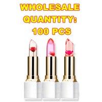Makeup Transparent Natural Red Lip Stick Temperature Color Change Long lasting Moisturizer Flower Lipsticks P8104 Wholesale