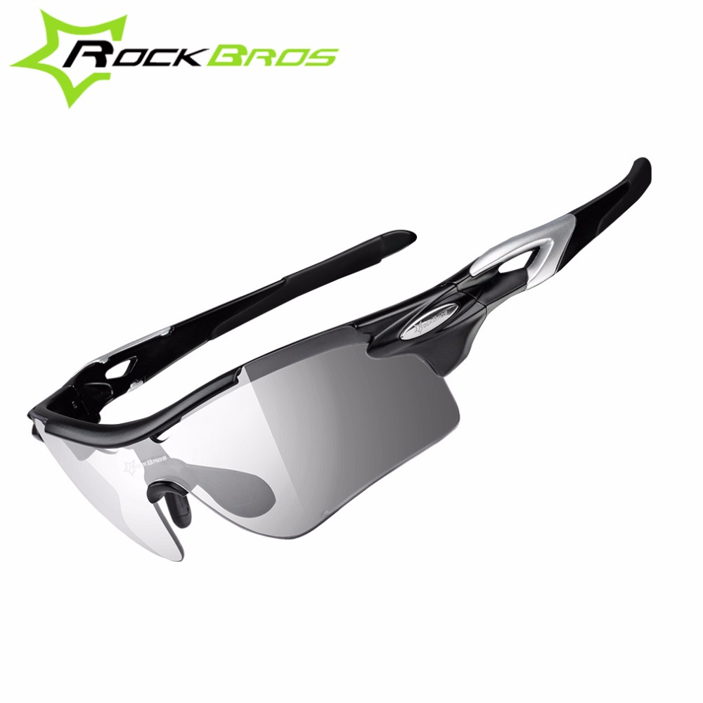 Rockbros font b Sports b font Sunglasses Photochromic Women Men Polarized Cycling Glasses 2 Lens Outdoor