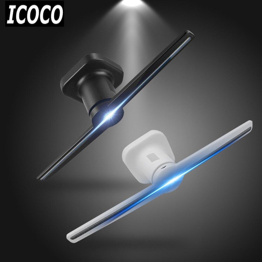ICOCO Più Nuovo 3D Ologramma Proiettore LED Wifi Proiettore Ologramma Olografica Dispaly Fan Unico All'ingrosso Drop Shipping