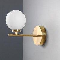 Nordic Lighting Living Room Sconce Wall Lights Glass Ball Magic Bean Creative Personality Simple Molecular Wall Lamp