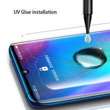 Nano Liquid UV For Huawei Mate 20 Pro P30 Full Glue Tempered Glass Honor 8X Max Screen Protector Lite RS X LG