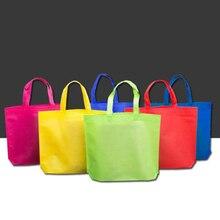 Mulheres Dobrável Não Tecido Saco de Compras Reutilizável Bolsa Unisex Saco de Ombro Bolsa de Armazenamento de Supermercado Eco Shoppers Bolsa De Armazenamento Saco