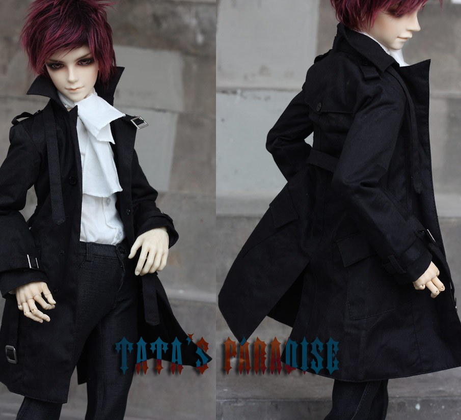 Fashion black coat  For BJD 1/4 uncle SD17 Doll Clothes Accessories