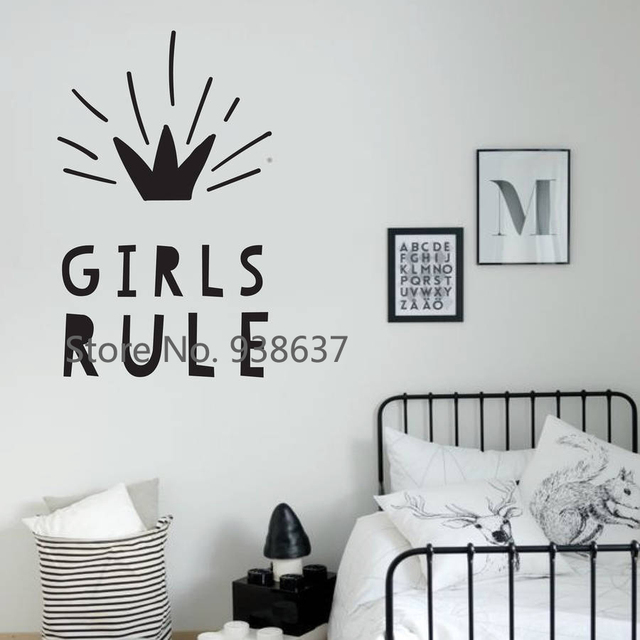 Boys Rule Wall Stickers For Bedroom Vinyl Wall Decals Home Decor Wall Door  Decoration Kids Room