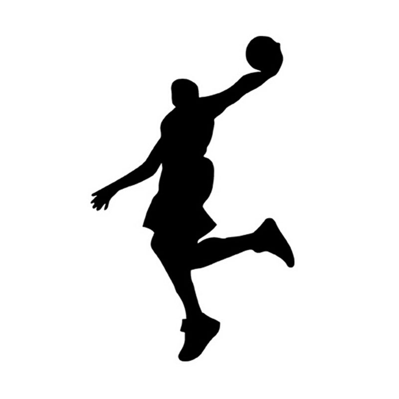 10*16CM Basketball Players Car Sticker Cool Sports Personality Reflective Car Stickers And Decals CT-855