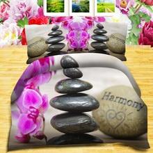 Книги по искусству камень и фиолетовый цветок 3d эффект фото постельное белье могут быть выполнены по индивидуальному заказу фото узор