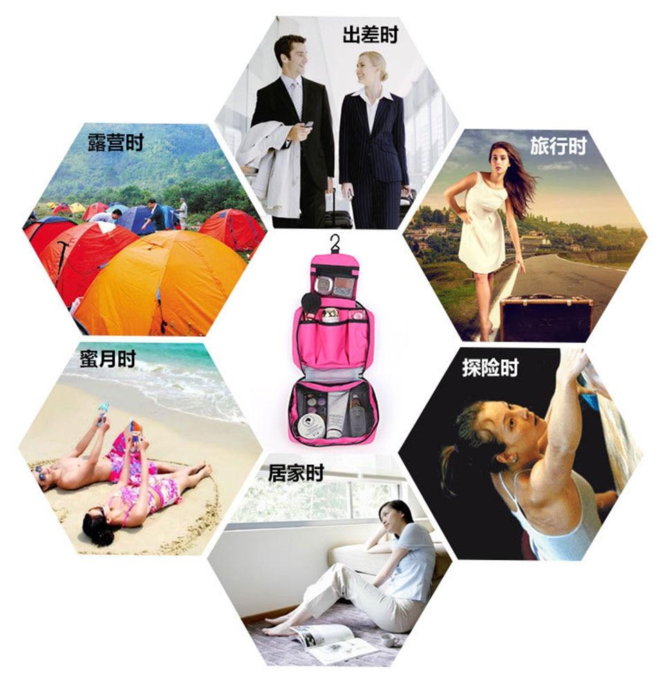 Hanging Travel Cosmetic Bag Women Zipper Make Up Bags Polyester High Capacity Makeup Case handbag Organizer Storage Wash Bag     (2)