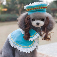 2016 Funny Dog Clothes Hat Pet Supplies Kit De Princesa Funny Suit Clothes Pet Dogs Hat