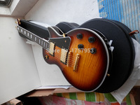 Factory custom 2017 Newest Cherry Sunburst tiger stripes Flame Burst l Custom electric guitar with hardcase 33