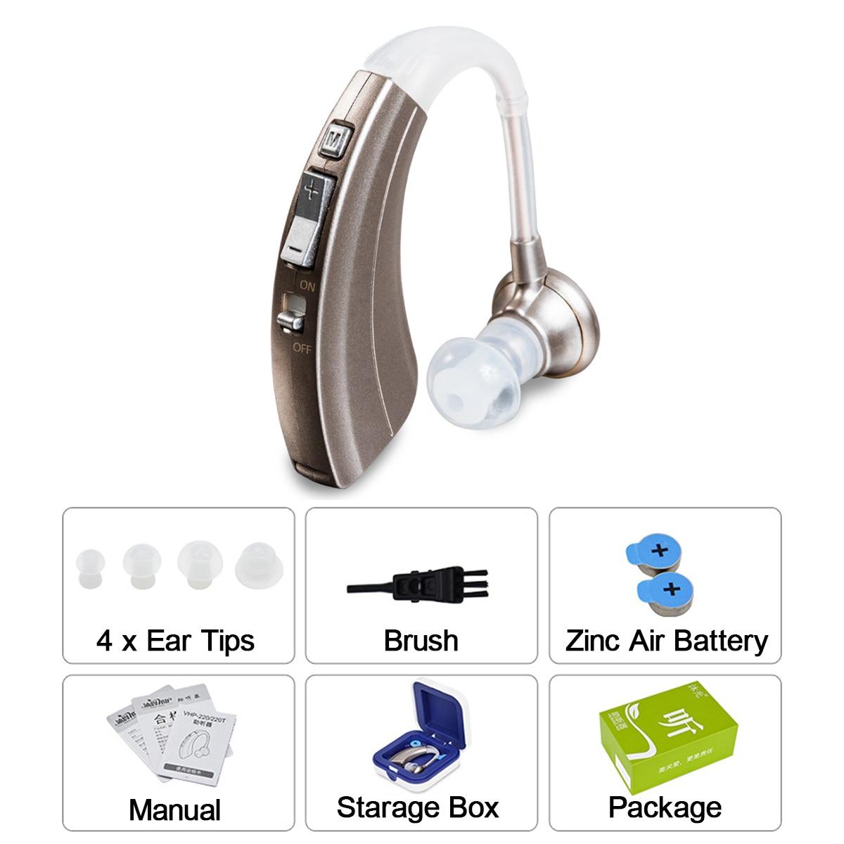 Mini aides auditives numériques durables portatives de réduction de bruit de prothèse auditive sans fil de 4 modes pour les amplificateurs sonores âgés