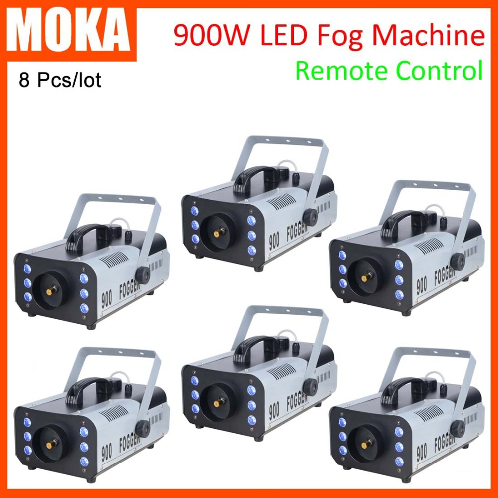 6 PCS/lot disco dj machine smoke for party lights 900w led fog machine for led dj lights