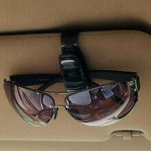 Dewtreetali NEW arrive Auto Fastener Auto Accessories ABS Car Vehicle Sun Visor Sunglasses Eyeglasses Glasses Ticket Holder Clip