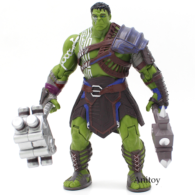 Thor 3 Ragnarok Hulk Robert Bruce Banner PVC Action Figure Collectible Model Toy 19cm gonlei avengers hulk figma 271 pvc action figure collectible model toy 19cm kids toys