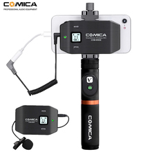 Comica CVM-WS50 6 Channels Smartphone Wireless Lavalier Lapel Microphone System for iPhone Samsung Huawei Phones/DSLR Cameras