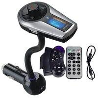 ハンズフリーのbluetooth fmトランスミッタワイヤレスmp3プレーヤーtf uディスク電話usb車の充電器でステアリングホイールリモコン