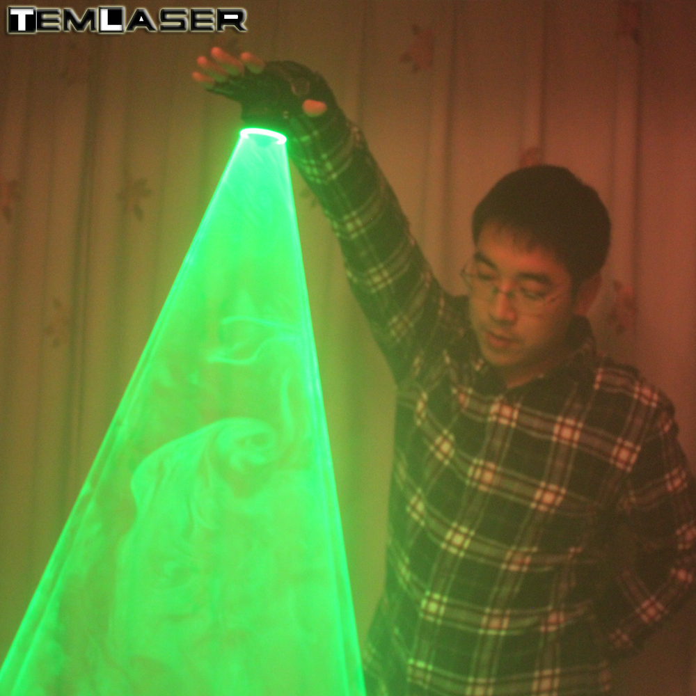 Free Shipping Green Laser Whirlwind Handheld Laser Cannon For DJ Dancing Club Rotating Lasers Gloves Light Pub Party Laser Show