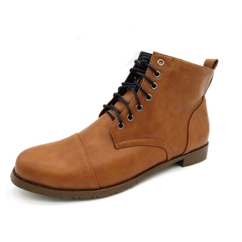 2018 GYP-De encaje botas Martin botas de la alta calidad de los hombres Vintage británico bota militar Otoño Invierno XB-01