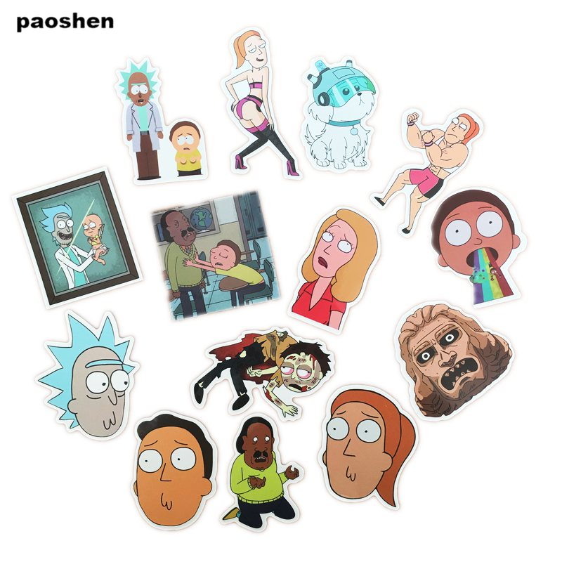35 Pcs Rick And Morty Cartoon Pvc Waterproof Sticker For Luggage Skateboard Phone Laptop Moto Trunk Guitar Car Diy Stickers #3