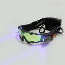 1 шт. очки eyeshield зеленые линзы регулируемая эластичная лента очки ночного видения Новые