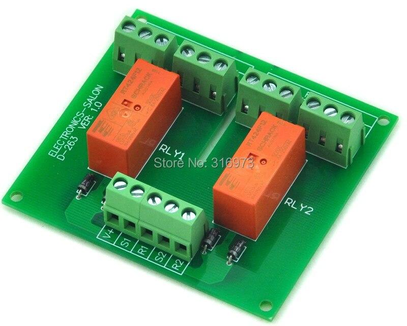 Passive Bistabil/Rast 2 DPDT 8 Amp Power Relaismodul, 12 V Version ...