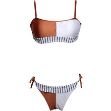 2018 Sexy Brazilian Women Bikinis Set Patchwork Swimsuit Glossy Cloth Swimwear Push Up Beach Wear Biquini Summer Bathing Suit(China)